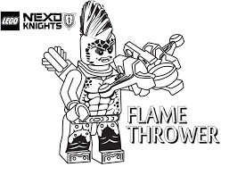 Lego Nexo Knights Coloring Pages Flame Thrower Get Coloring Pages