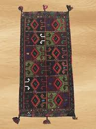 authentic hand knotted afghan adras khan balouch wool area rug 3 4 x 1 7 6008