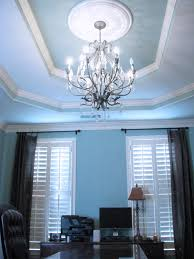 office chandelier lighting. Office With Chandelier, Trey Ceiling, And Ceiling Medallion Chandelier Lighting