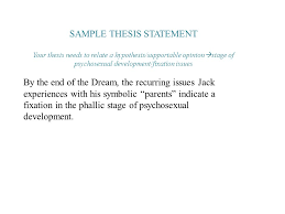 Sample Thesis Statement Ppt Download