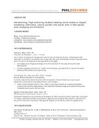 Cover Letter Marketing Internship Resume Samples Fashion Marketing