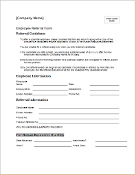 Referral Form Templates Job Referral Form Barca Fontanacountryinn Com