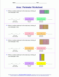 Area And Perimeter Worksheets Rectangles Squares Math 3rd Grade ...