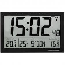 digital office wall clocks digital. TFA Xl Radio Controlled Wall Clock With Indoor/Outdoor Temperature 37cm Digital Office Clocks A