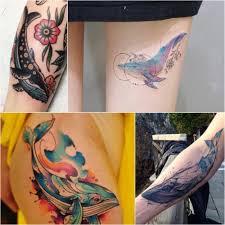 тату кит жители морских глубин в лучших идеях тату