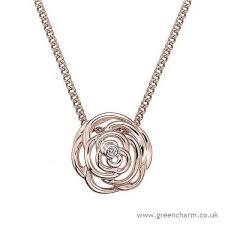 hot diamonds rose rose gold plated rose pendant c2f79h7712