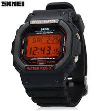 skmei 1134 sports men digital wrist watch week alarm backlight skmei 1134 sports men digital wrist watch week alarm backlight 5atm water resistant orange