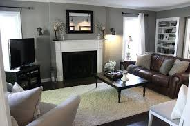 gray walls brown furniture. Dark Brown Couch Gray Walls Living Room Ideas Furniture I