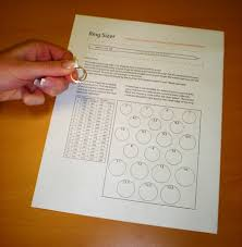 Paper Ring Size Chart Ring Size Guide