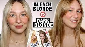 darkening bleached hair