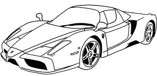 Ferrari Sport Car Coloring Page Projects To Try Race Car