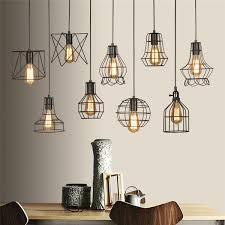 retro lamp shades industry metal pendant lamps holder vintage style iron hanging light shade edison bulb