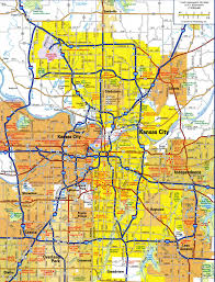highways and roads map of kansas cityfree maps of us