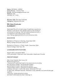 New Grad Registered Nurse Cover Letter Sinma