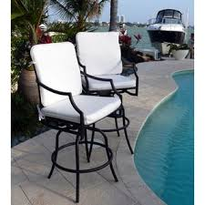 overstock comfort care cast aluminum with armrest outdoor swivel barstools set of 2 a set outdoor bar stools make the perfect compliment to a patio swivel m54