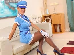 Erotic soft core air hostess