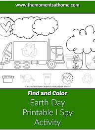 Earth Day Printable I Spy Activity - The Moments at Home