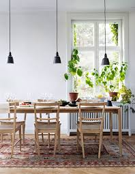 clean dining table pendant lights right sized rug
