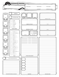 dnd 3 5 character sheet d d 5e character creation