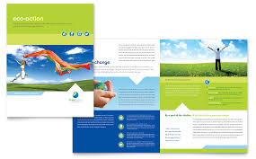 Green Brochure Template Green Living Recycling Brochure Template Word Publisher