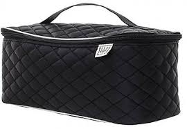 ellis james designs large travel cosmetic case makeup bag black