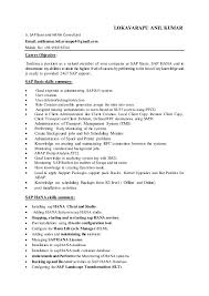 Opulent Sap Hana Resume Unusual Anil And Fresher Resume Cv Cover