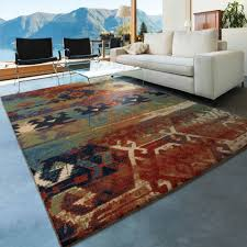 orian rugs southwest dreamcatcher multi colored red area rug com