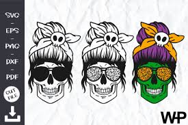 Download the glasses cut file and get three styles of glasses in dxf, svg and png format. Skull With Glasses Halloween Mom Graphic By Wanchana365 Creative Fabrica
