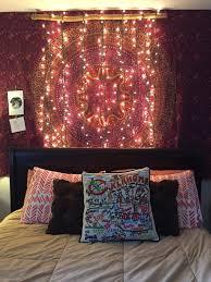 diy bohemian bedroom. Bedroom Bohemian Wall Tapestry And Diy Christmas Lights. O