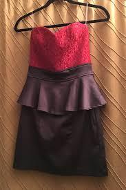 Trixxi Black Red Strapless Dress Free Shipping