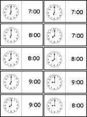 Clock Dominoes Analog Digital 7 00 To 12 00 A Printable Game