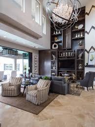 living room shelves with asian design