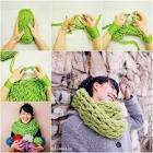 Как сделать шарф без спиц