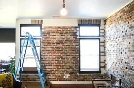 brick veneer fireplace how to install brick veneer inside your home 7 removing brick veneer for