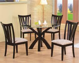 round contemporary parson dining set