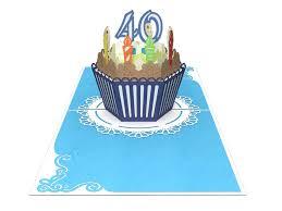 40th Birthday Cake For Him 3d Creative Popcard Creative Popcards