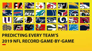 Predicting All 32 Teams 2019 Nfl Record Game By Game