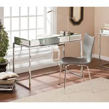 Modern Glass Mirrored Desk Aiden Lane Tar