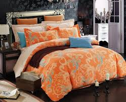 orange comforter set queen intended for with regard to bed bedding kmyehai com design 4