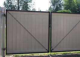 Vinyl fence with metal gate Wood Fence Vinyl Gates Are Not All Built Alike Uke Trio Vinyl Gates Northwest Fence Company