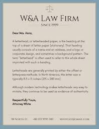 Online Law Firm Letterhead Template Fotor Design Maker