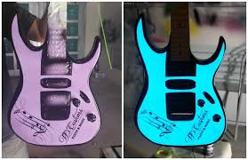 light up guitars electroluminescent paint lumilor by td customs