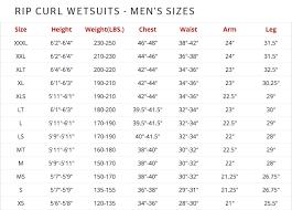 Rip Curl Dawn Patrol Size Chart Rip Curl T Shirt Size Chart