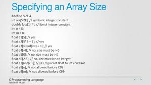 int size c c programming data structure arrays pointers