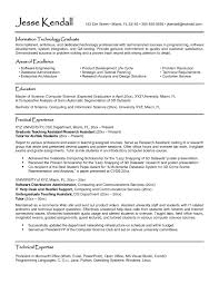 Sample Resume Format For Final Year Engineering Students Valid