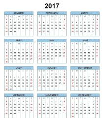 Absentee Calendar 2017 Printable Calendar Template Holidays Excel Word