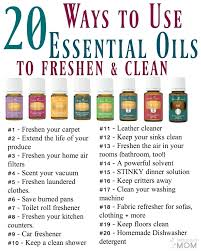 20 ways to use essential oils to freshen clean