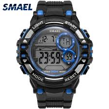 SMAEL <b>Digital Wrsitwatches</b> Sports Outdoor New Watches Black ...