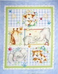 fleece fabric baby - fleece prints panels - cotton flannel fabric ... & Cuddle Time Elephant Lion Fabric Wall/Quilt Blue Panel Adamdwight.com