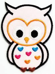 Owl Birthday Applique Design Amazon Com Nipitshop Patches Pink Owl Bird Animal Big Eyes